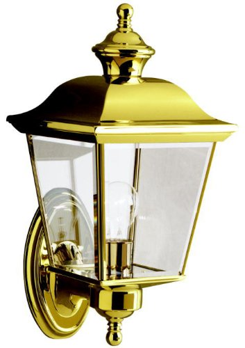 Kichler 9712PB Bay Shore Outdoor Wall 1-Light, Polished Brass
