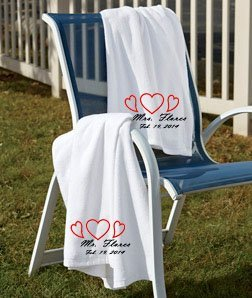 Custom Beach Towel, Reserved Beach Towel, Monogram Beach Towel, Pool Towel,  Bachelorette Party, Personalized Towel, Unique Wedding Gift