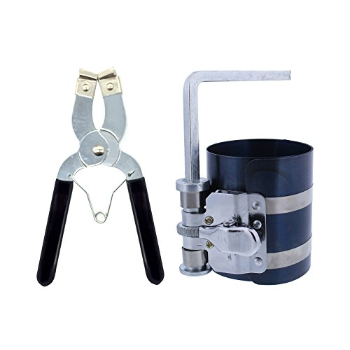 Engines Piston Ring - MMonDod Car Engine Piston Ring Installer Removal Kit - Piston Ring Compressor 2 1/8