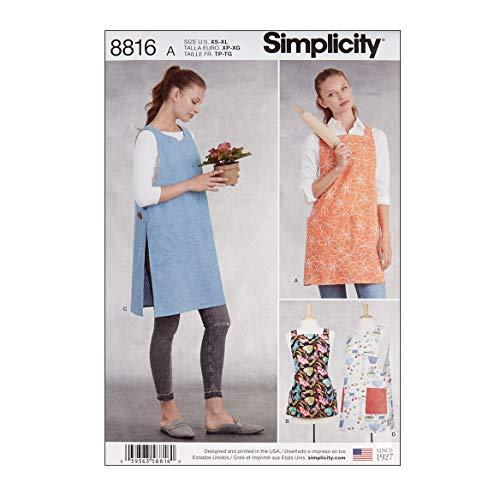 Simply Creative Group Simplicity 8816 Misses' Aprons A (Sizes XS-S-M-L-XL) ()