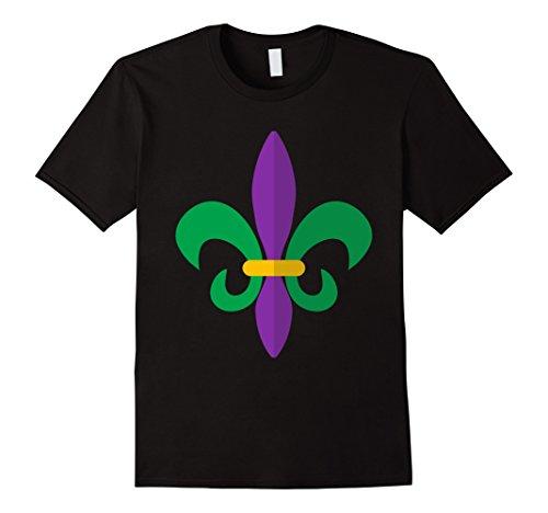 Men's Mardi Gras Fleur De Lis Flower Mardi Gras Symbol T-Shirt Medium Black (Mardi Gras Outfits Ideas)