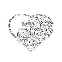 Cutting Dies, Cansave Flower Heart Metal Stencils DIY Scrapbooking (B)