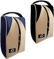 FINGER TEN Golf Shoe Bag for Men Women, Deluxe Canvas Zipper Tote Large Travel Portable Organizer, Basketball