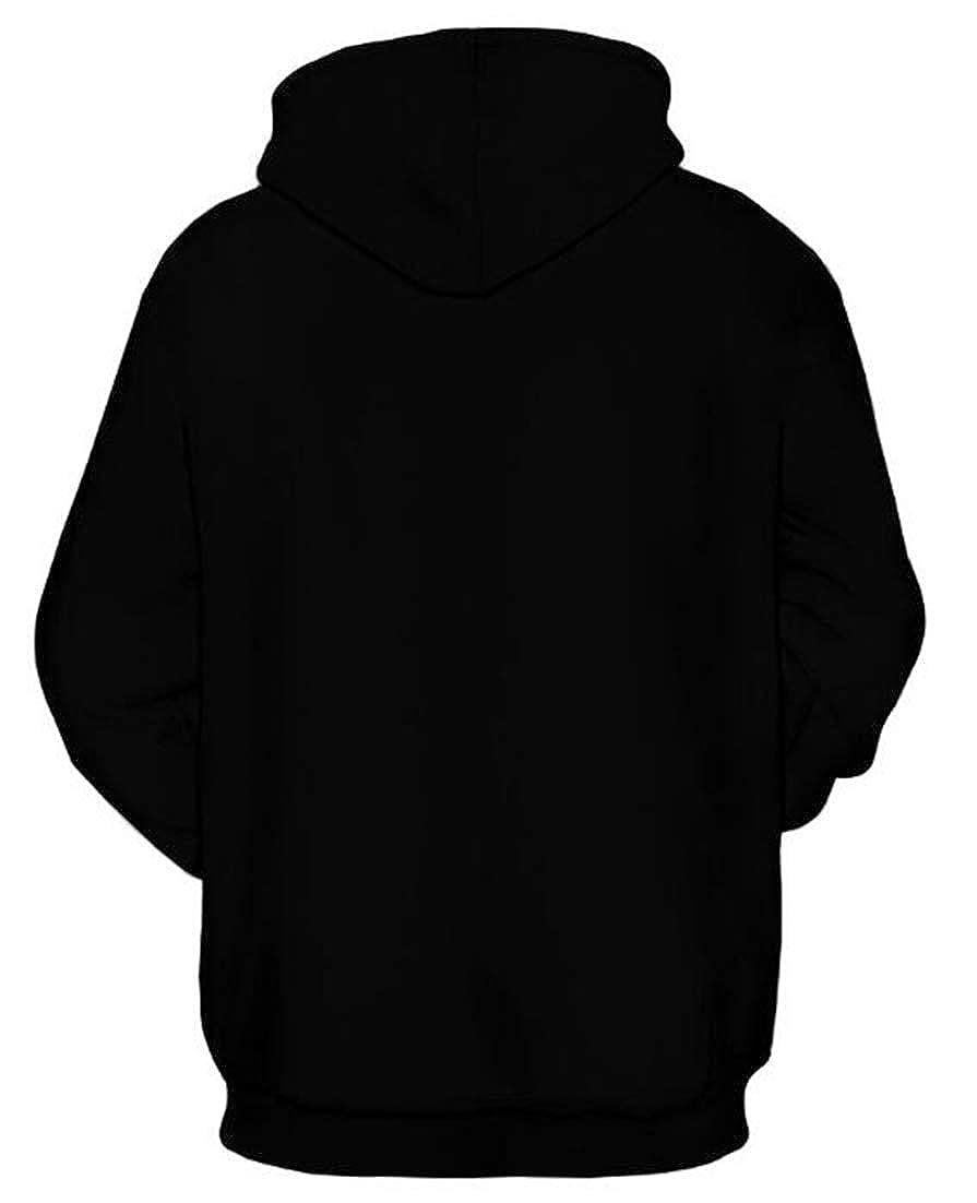 X-Future Men Long Sleeve Unisex Pocket Fashion 3D Printed Sweatshirt Hoodie Pullover