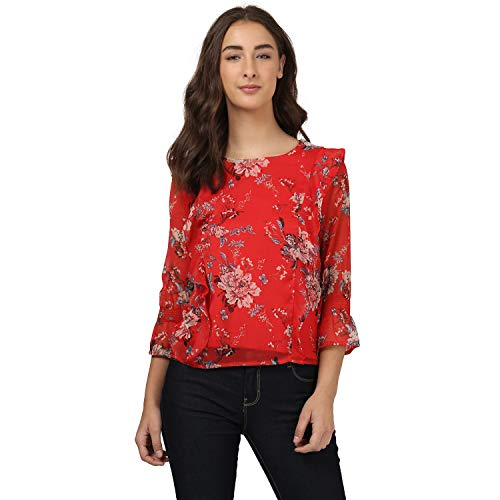 Harpa Round Neck Printed Top