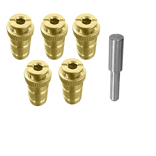 mistcooling Pool Cover Anchor with Tamping Tool - Brass Anchor for Pool Safety Cover - 5/8 Anchor. Fits 3/4 Hole (5 Anchor)