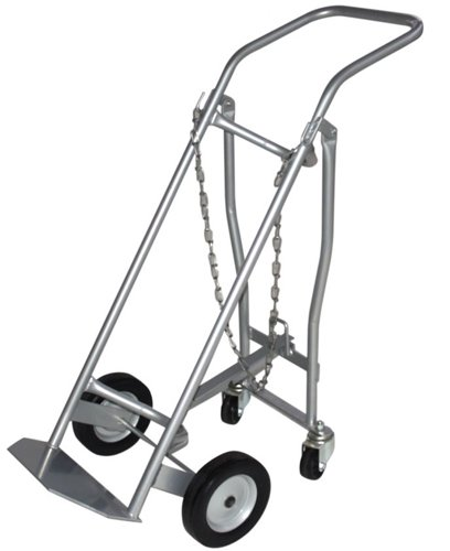 Milwaukee Hand Trucks 40767 Medical Cylinder Truck 1 Gas Cylinder with Retractable Casters