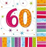 Radiant Birthday '60th' Napkins