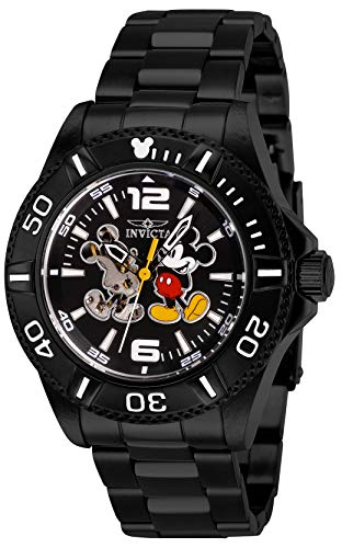 - Invicta Men's Disney Limited Edition Automatic-self-Wind Watch with Stainless-Steel Strap, Black, 20 (Model: 27410)