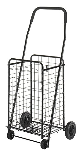 Whitmor 6307-1729-BLK Rolling Utility Cart, Black