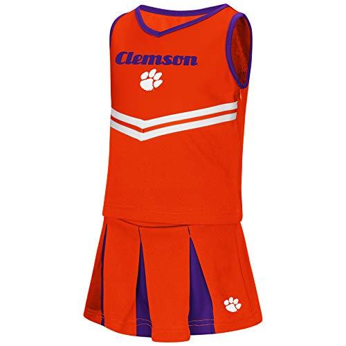 Colosseum NCAA Toddler-Girls Team Cheer Set-Clemson Tigers-5T