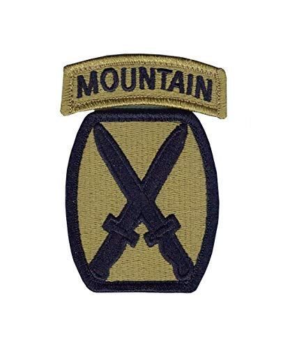 10th Mountain Division New OCP Patch And Tab Sewn Together W/Hook Fastener