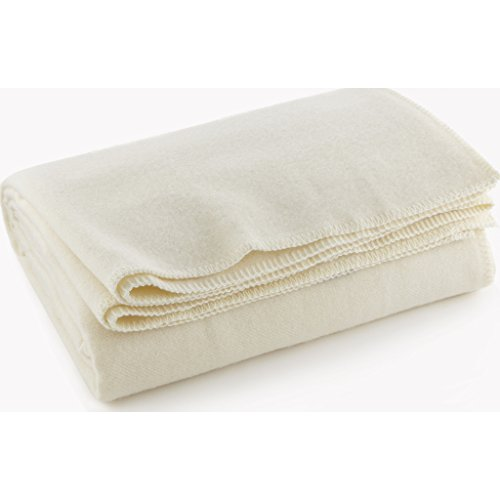 Faribault Pure & Simple Wool Blanket - Bone White - -