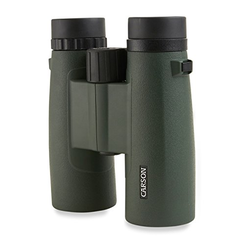 Carson JR Series 10x42mm Close-Focus Waterproof Binoculars for Bird Watching, Hunting, Sight-Seeing, Surveillance, Concerts, Sporting Events, Safaris, Camping, Travel and Outdoor Adventures (JR-042) by Carson (Image #2)