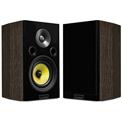 Fluance Signature HiFi 2-Way Bookshelf Surround Sound Speakers for Home Theater and Music Systems (HFSW)