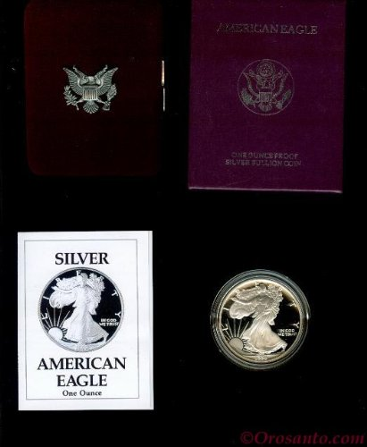 1993 Proof Silver Eagle (1993 P Proof Silver Eagle in OGP with CoA Silver Dollar US Mint Proof)