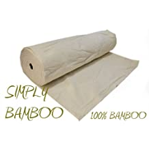 SIMPLY BAMBOO 100% ECO FRIENDLY CERTIFIED ORGANIC BAMBOO 90 WIDTH BATTING/WADDING QUILT CRAFT PATCHWORK QUILTING FABRIC MATERIAL MACHINE HAND by QUICKFABRCIS