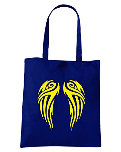 T-Shirtshock - Bolsa para la compra FUN0591 angel wings decal 4 36385 Azul Marino