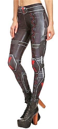 Super Heroes One Size Fits Most Novelty Cosplay Leggings Multiple Styles (Black Widow)]()