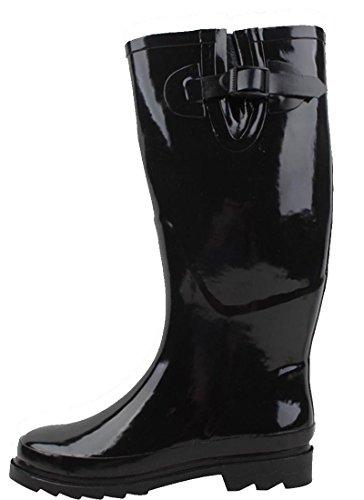 Sunville Womens R1412 Fashion Rainboots Noir
