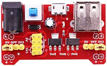 Hockus Accessories 5V Power Module Compatible with 5V 3.3V Breadboard Micro:bit Development Board Dedicated External USB Power Supply