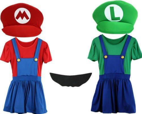 Mario y Luigi Disfraces Adultos – Super Fontanero Bros Halloween ...
