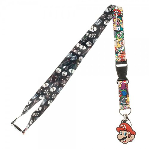 Nintendo Super Mario World Multi Character Lanyard with Rubber Charm (Halloween Horror Nights Annual Pass)