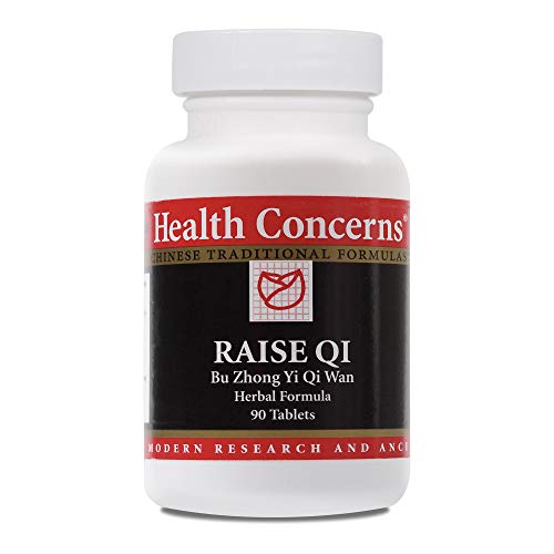 Health Concerns – Raise Qi – Bu Zhong Yi Qi Wan Chinese Herbal Supplement – Overall Health Support – with Astragalus Root – 90 Tablets per Bottle