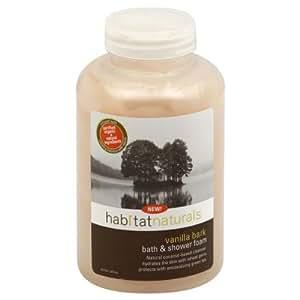 Habitat Naturals Bath & Shower Foam, Vanilla Bark 16 fl oz (473 ml)