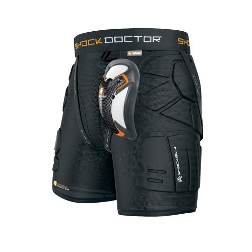 Shock Doctor Shockskin Lax Relaxed Fit Impact Short (Black, Men's X-Large)