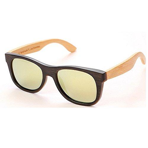 de Marco bambú hecho playa sol UV gafas de polarizadas primavera de de sol de a sol Protección conducción mano hombre Bisagras de para gafas sol Beige de Retro retro esqu de gafas ambiental Gafas de Gafas wqCdAExtx