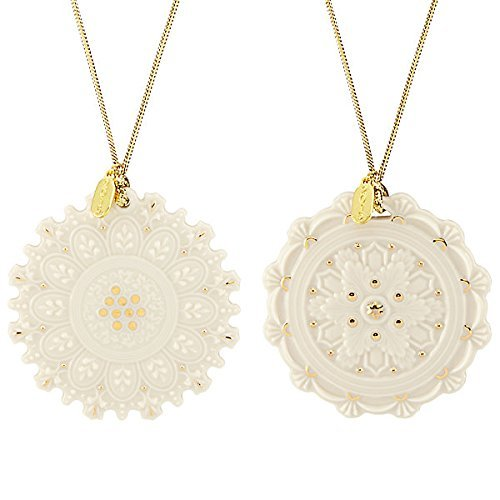 Heritage Collection Snowflake 2-piece Ornament Set by Lenox
