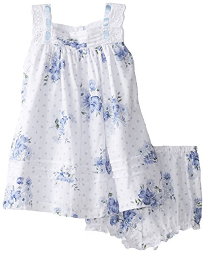 Laura Ashley London Baby Girls' Floral Float Dress, Blue, 12 Months