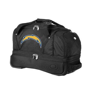 nfl-san-diego-chargers-denco-22-inch-drop-bottom-rolling-duffel-luggage-black