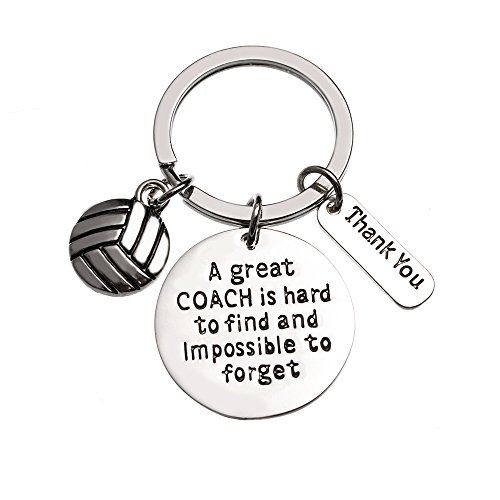 Volleyball Coach Keychain, Coach Gifts, Great Coach is Hard to Find But Impossible to Forget Coach Key Chain -