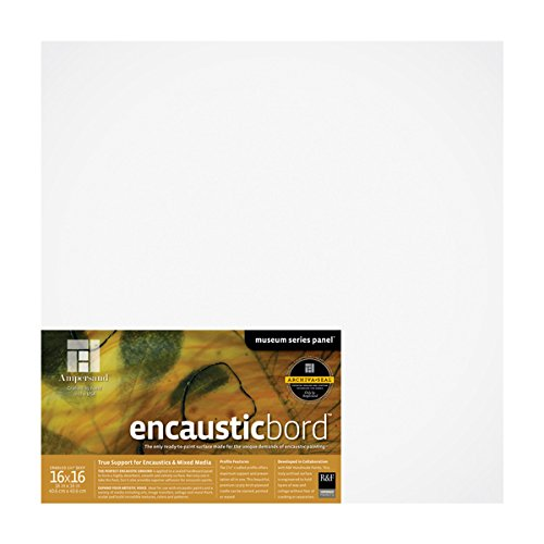 Ampersand Encausticbord Hardboard Panel for Encaustics and Mixed Media, 1.5 Inch Depth Cradle, 16X16 Inch (ENC151616)