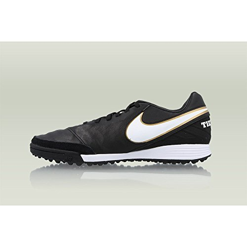 Picture of NIKE Tiempo Mystic V Turf Shoes [Black/White]
