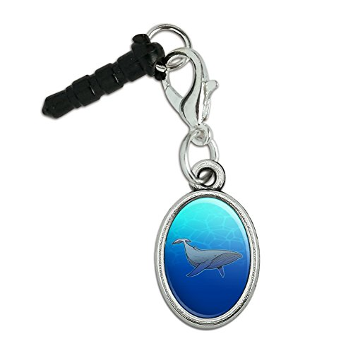 GRAPHICS & MORE Humpback Whale Mobile Cell Phone Headphone Jack Anti-Dust Oval Charm fits iPhone iPod Galaxy