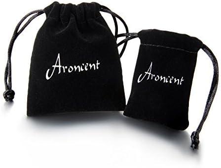 Aroncent Homme Femme 2//3 Paires Boucles dOreille Clous dOreilles Fantaisie avec Cr/âne R/étro Punk Cool Chic en Acier Inoxydable et Zircone