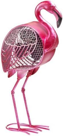 Deco Breeze Pink Flamingo Figurine Fan, 4 Inch