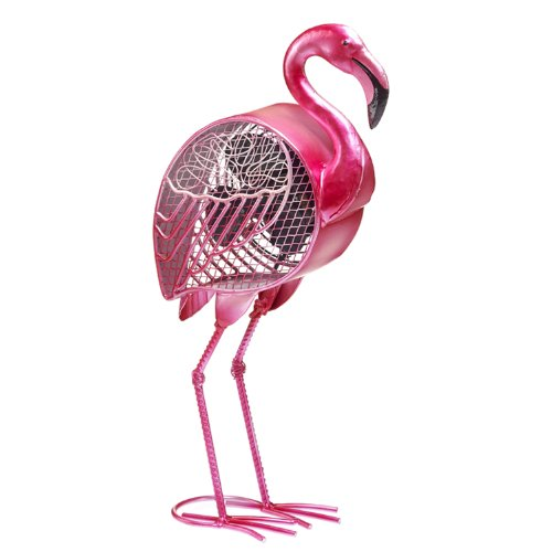 Deco Breeze Pink Flamingo Figurine Fan, 4 Inch,