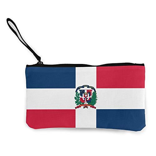 Originality Dominican Republic Coin Purse Travel Makeup Pencil Pen Case With Handle Cash Canvas Zipper Pouch 4.7