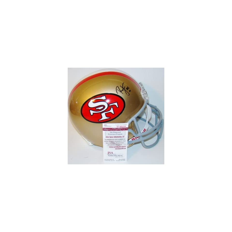 Ronnie Lott Autographed Helmet   NEW HOF 2000 F S JSA   Autographed NFL Helmets