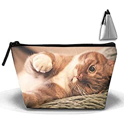 Travel Makeup Cat Face Winking Color Cosmetic Bag Hanging Storage Brush Organizer