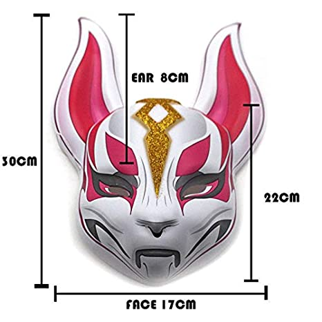 WULIHONG mascherareGioco da Battaglia Royale Fox Kitsune Maschera Cosplay Maschere alla deriva Lattice Integrale Casco per Adulto Puntelli per Feste