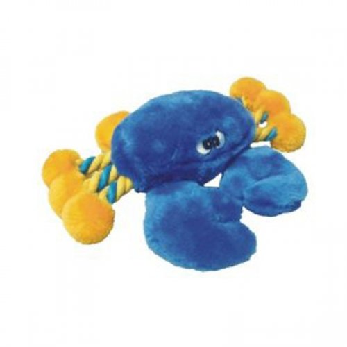Patchwork Pet Plush Crab Dog Toy 8in, My Pet Supplies