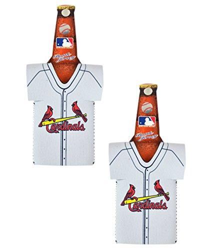 Official Major League Baseball Fan Shop Authentic MLB 2-pack Insulated Bottle Team Jersey Cooler (St. Louis Cardinals)