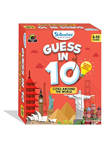 Skillmatics Educational Game : Cities Around The World - Guess in 10 (Ages 8-99) | Card Game of Smart Questions | General Knowledge for Kids, Adults and Families | Gifts for Boys and Girls