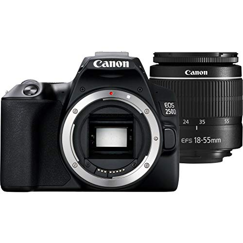 Canon EOS 250D (Rebel SL3) DSLR Camera with 18-55mm DC III Lens & Starter Accessory Bundle – Includes: Free SanDisk…