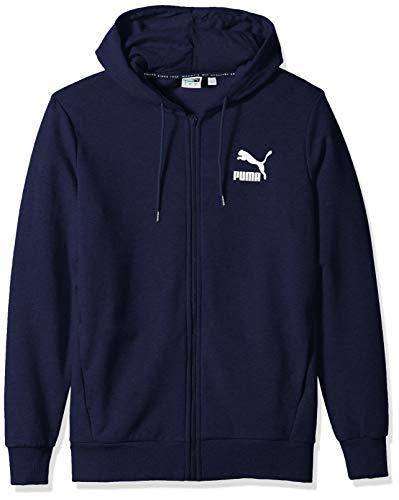 (PUMA Men's Classics Logo Full Zip Hoody, Peacoat L )